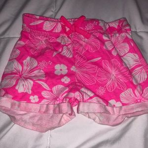 🌸🌸Cotton Hot pink and white floral shorts🌸🌸